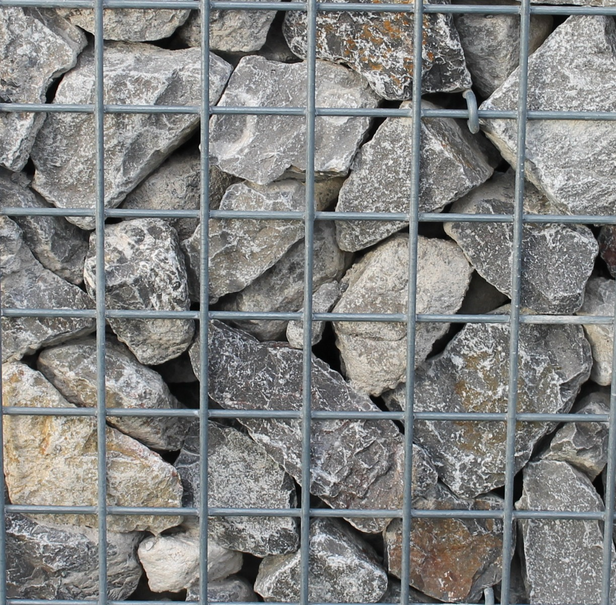 Ardenner grijs 60-100mm Breuksteen in schanskorf