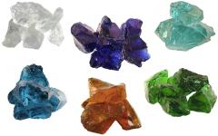 Glas-Brocken 6 Farben