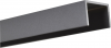 Alu U-Afdekprofiel 1,80 meter lang gepoedercoat steengrijs