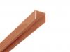 Alu U-Afdekprofiel 1 meter lang gepoedercoat bruin