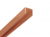 Alu U-Afdekprofiel 0,90 meter lang gepoedercoat bruin