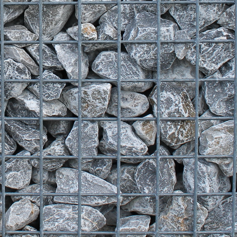 Duitse kalksteen 40-80mm in korf