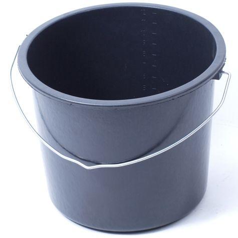 Emmer plastic zwart 12 liter
