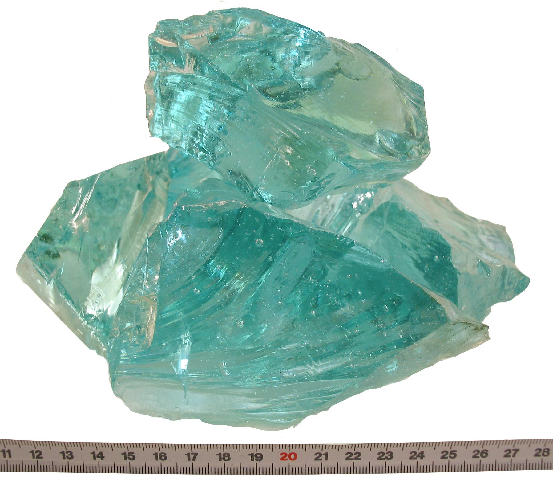 Glas-Brokken Tourquise 80-120mm
