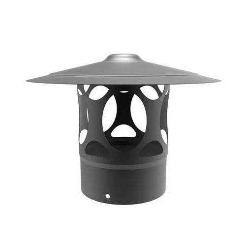 Emaille regenkap zwart diameter 200 mm