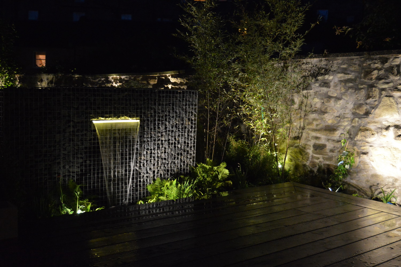 Schanskorf waterval met LED