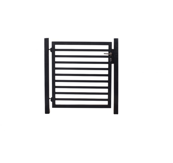 Tuinhek poortje met 8 horizontale staven