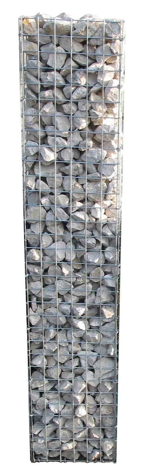 Schanskorf zuil in combinatie met composiet