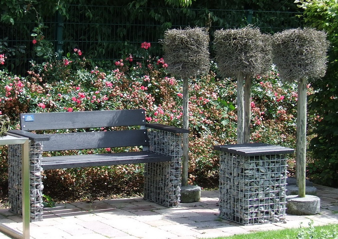 Schanskorven tuinbank